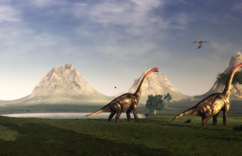 Brachiosaurus_walking_by_Ikechi1