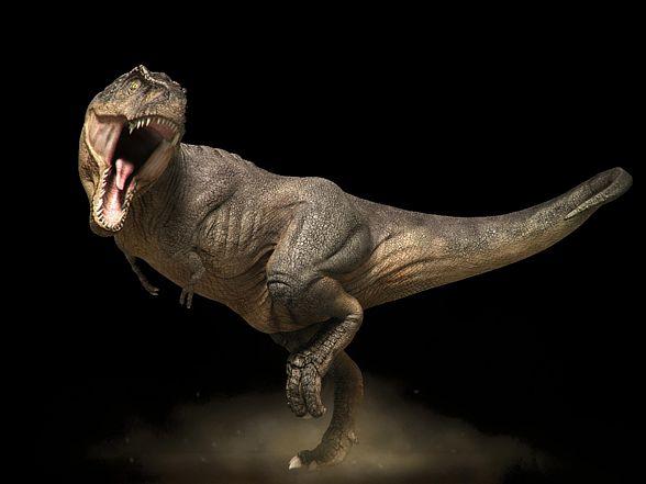 T.rex - wizualizacja.