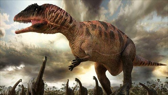 Karcharodontozaur (Carcharodontosaurus) - wizualizacja.