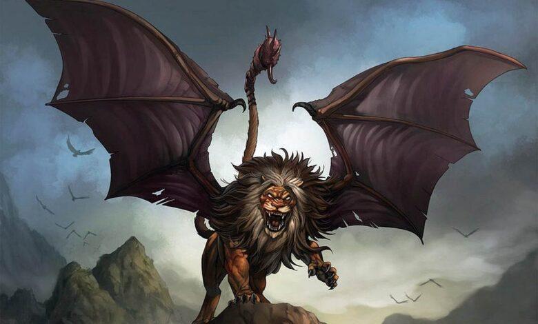 Photo of Mitologiczne lwy – Mantykora