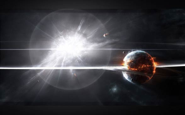 Wybuch supernowej.